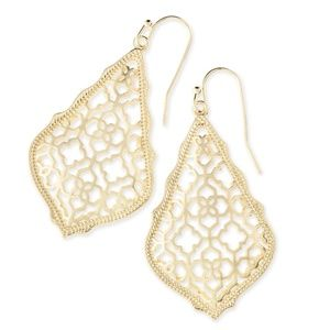 Kendra Scott Addie Gold Drop Earrings In Gold